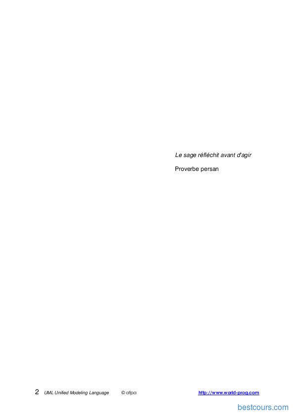 Tutoriel Cours d'UML 2