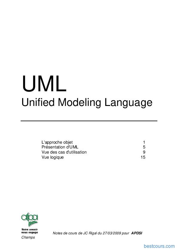 Tutoriel Cours d'UML 1