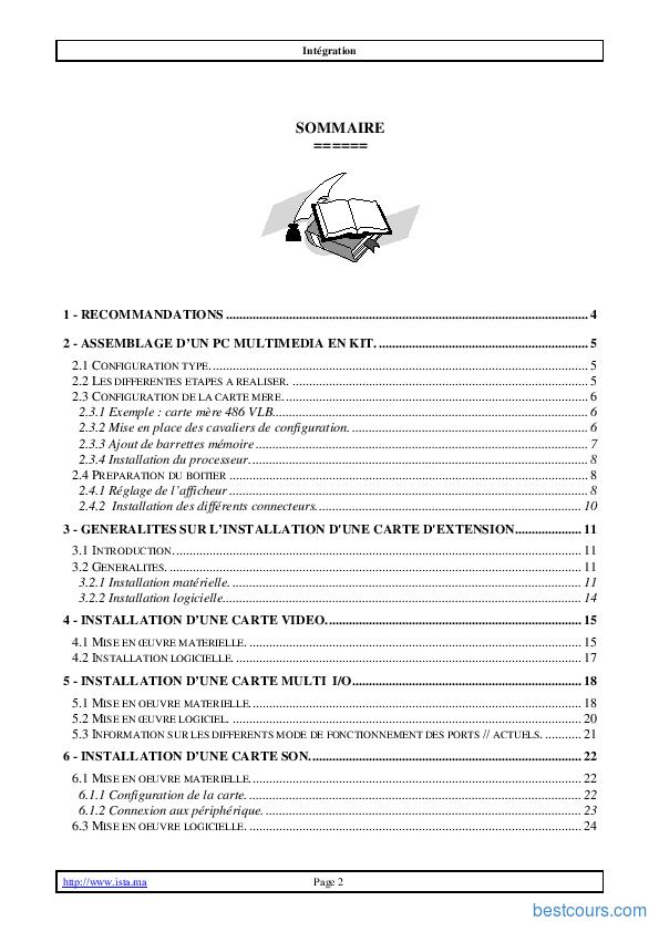 pdf  assemblage d u0026 39 un pc cours et formation gratuit