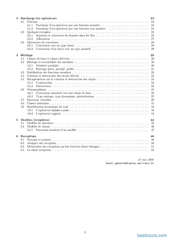 pdf  le langage c   cours et formation gratuit