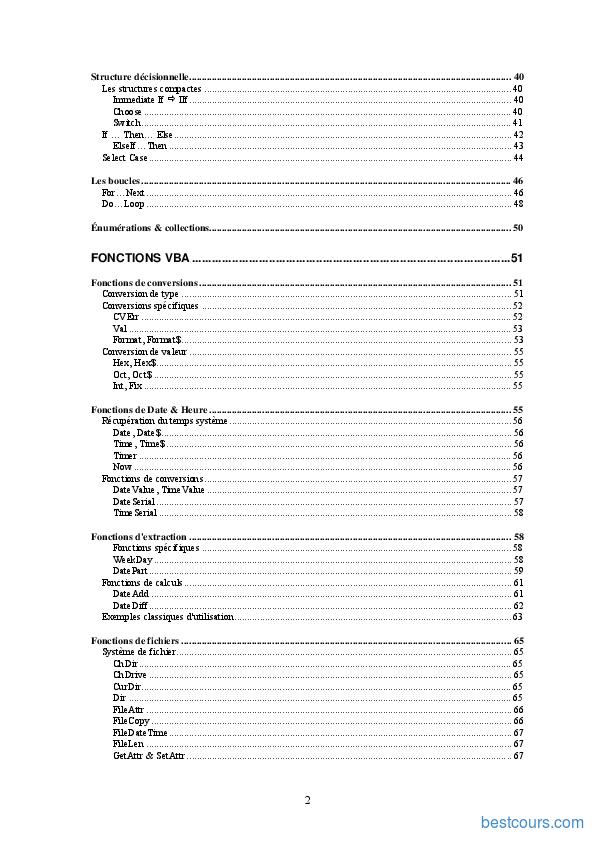 Tutoriel Cours Excel VBA 2