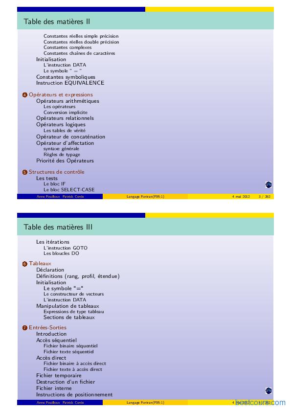 FORTRAN PROGRAMMATION LANGAGE TÉLÉCHARGER DE