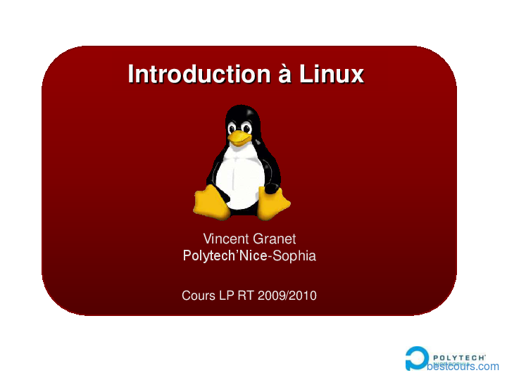 R sum sur le cours Administration r seau sous Linux