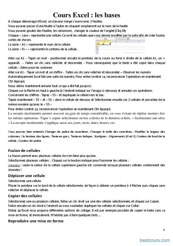 tutorial excel 2010 gratuit pdf