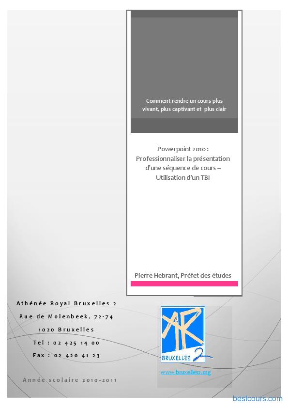 Tutoriel Microsoft PowerPoint 2010 1