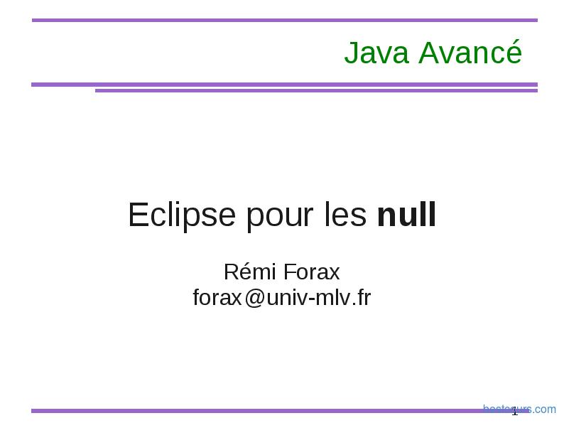 pdf  eclipse pour les nuls cours et formation gratuit