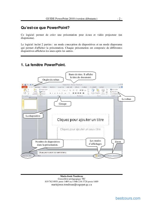 Tutoriel GUIDE PowerPoint 2010 (version débutante)  2