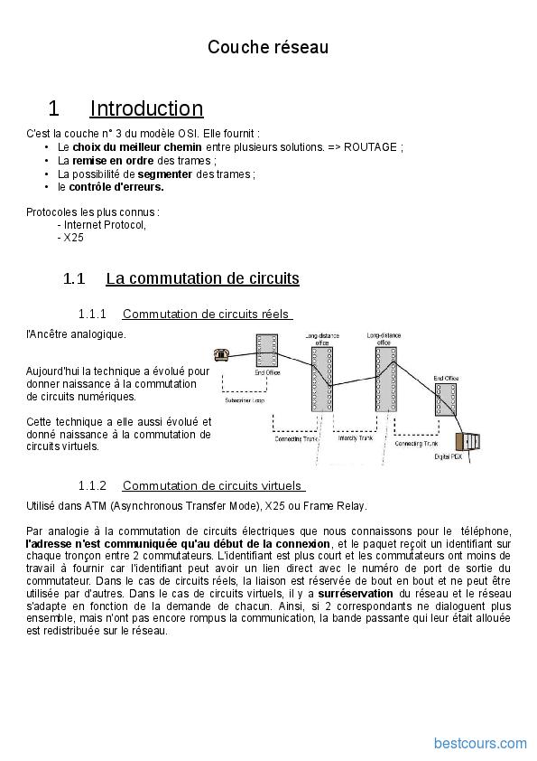 pdf  couche r u00e9seau et transport cours et formation gratuit