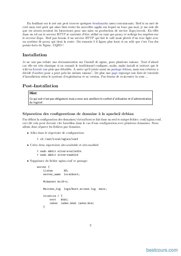 pdf  documentation sur nginx cours et formation gratuit