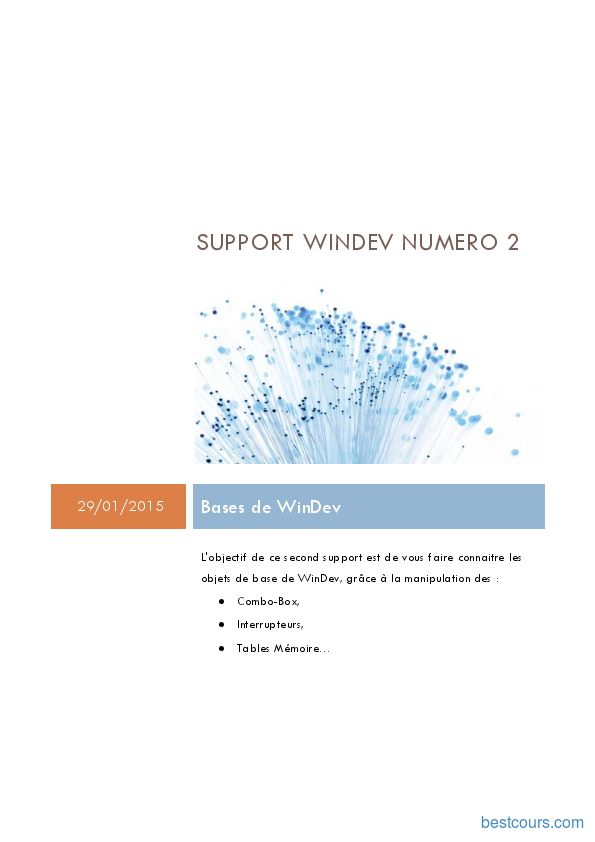 Tutoriel WinDev: Bases de WinDev 1