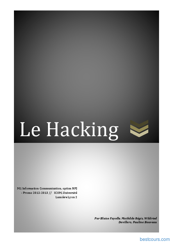 Tutoriel Le Hacking 1