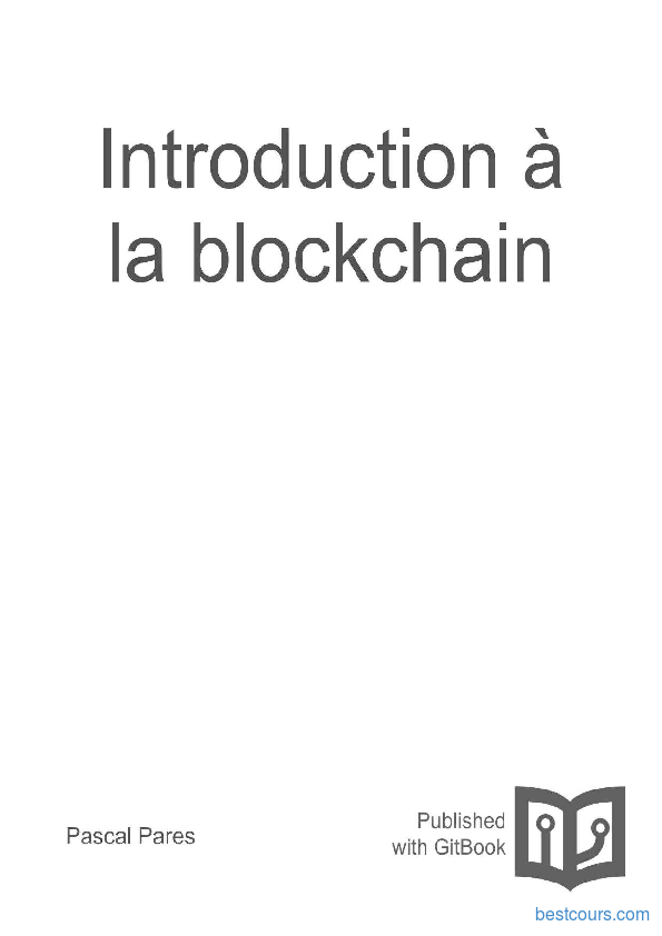 Tutoriel Introduction à la blockchain 1