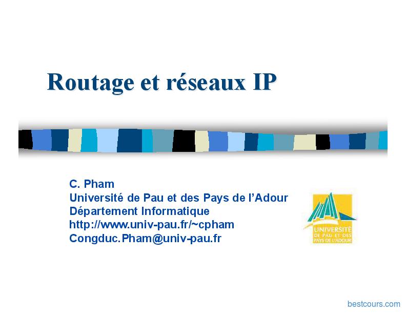 pdf  routage et r u00e9seaux ip cours et formation gratuit