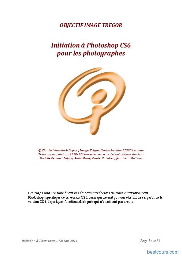 Tutoriel Initiation à Photoshop CS6 pour les photographes 1