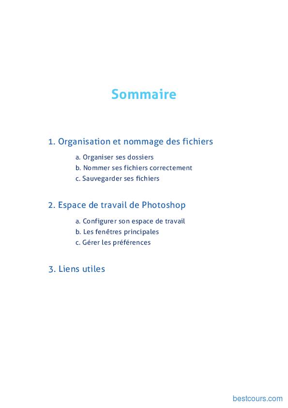 Tutoriel Adobe Photoshop - Organisation & Espace de travail 2