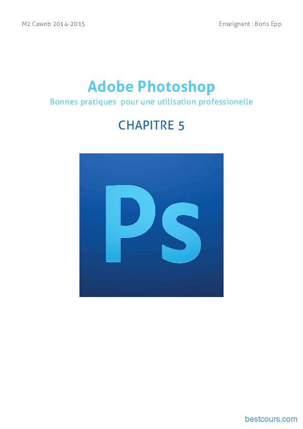 Tutoriel Adobe Photoshop - repères & outils vectoriels 1