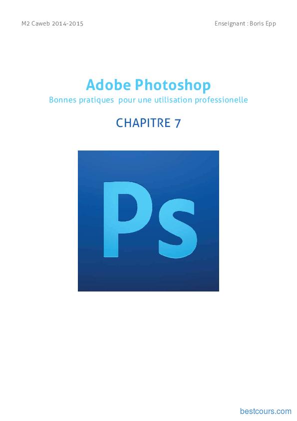 Tutoriel Adobe Photoshop - Les scripts 1