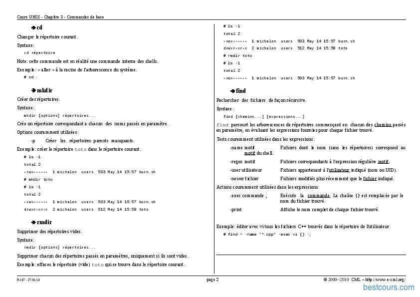 Tutoriel Commandes de base 2