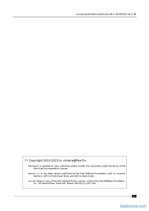 Tutoriel Programmation ShellScript 2