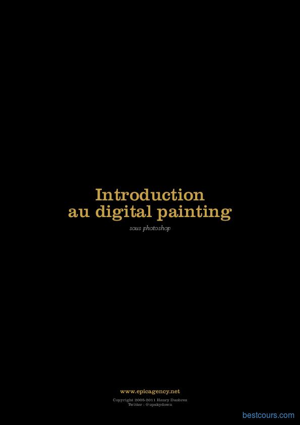 Tutoriel Introduction au digital painting sous Photoshop 1