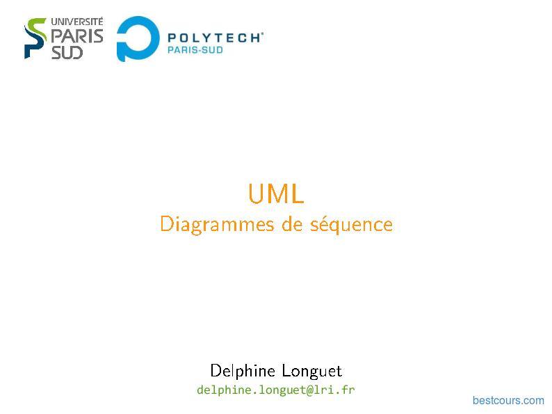 Pdf Uml Diagrammes De Séquence En Conception Cours Et Formation