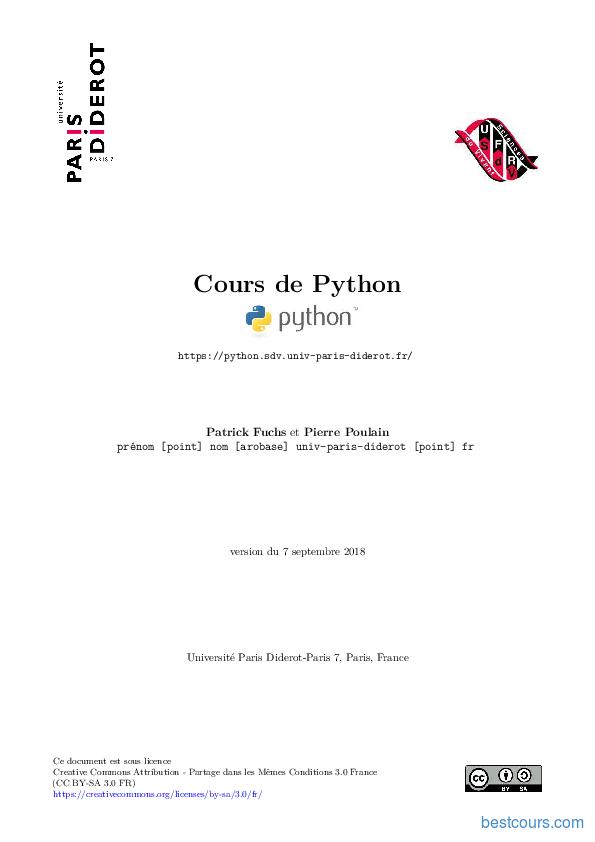 pdf  cours de python cours et formation gratuit