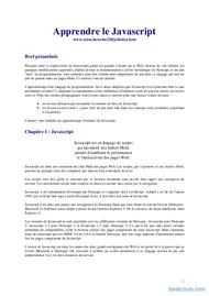 Tutoriel Apprendre le Javascript 1