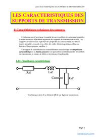Tutoriel Caractéristique de support de transmission 1