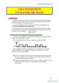 Tutoriel Transmission en bande de base 1