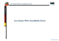 Tutoriel Les réseaux wifi: méthode d'accèes 1
