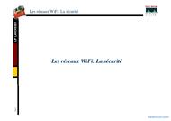 Tutoriel Les réseaux : la sécurité 1