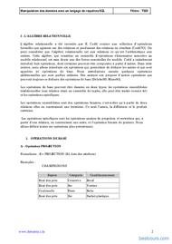 Tutoriel Cours sql 2