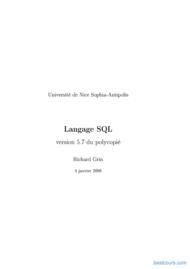 Tutoriel Langage SQL 1