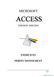 Tutoriel TPs access 2000/2003 deuxième  partie 1