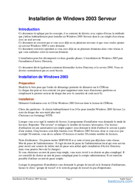 Tutoriel Installation Windows 2003 serveur 1