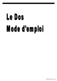 Tutoriel Le Dos mode d'emploi 1