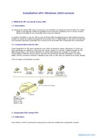 Tutoriel Installation VPN Windows 2003 serveur 1
