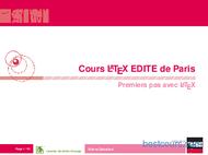 Tutoriel Cours Latex 1