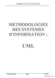Tutoriel Méthodologie des systèmes  d'information - UML 2