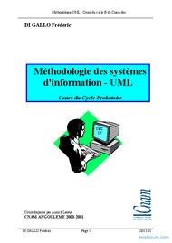 Tutoriel Méthodologie des systèmes  d'information - UML 1