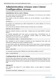 Tutoriel Administration réseau sous Linux 2