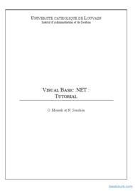 Tutoriel Tutorial Visual Basic NET 1