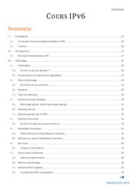 Tutoriel Cours IPv6 2