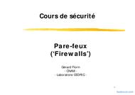 Tutoriel Cours Pare-feux (Firewalls) 1