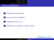 Tutoriel Oracle 11g installation et administration 2