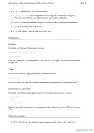 Tutoriel Cours Structures de données 2