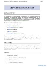 Tutoriel Cours Structures de données 1