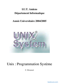 Tutoriel Programmation Système unix 1