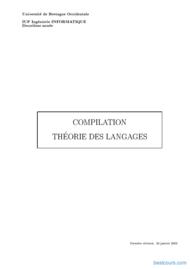 Tutoriel Compilation théorie des langages 1