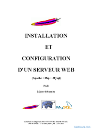 Tutoriel Installation serveur web 1